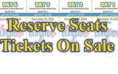 Reserved Seat Tickets on Sale